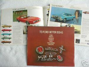 1973 Ford Brochure : Torino,pinto,maverick,mustang,thunderbird Galaxie 500,ltd,