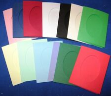 "Aperture cards Oblong 114x88mm 3.5x4.5/"" 3 fold with envelopes YOU PICK"