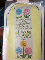 Carousel 3-dimensional Wall Hanging Baby's Scroll 7 1/2 X 23 New.