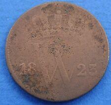 1823 Nederland - The Netherlands 1 cent 1823 B, Willem 1. KM# 47