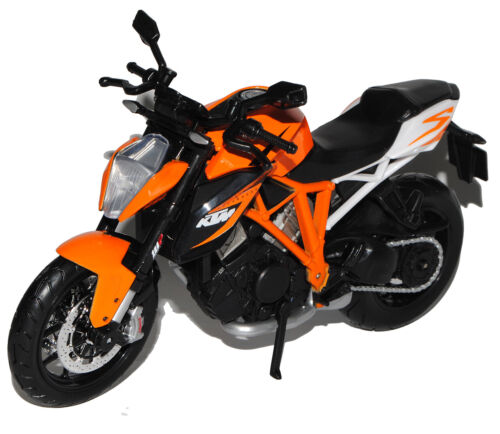 KTM 1290 Super Duke R Orange Schwarz 2012 1//12 Maisto Modell Motorrad mit oder o