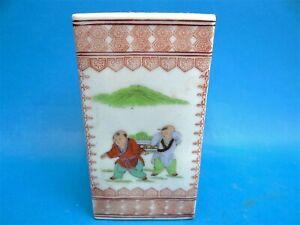 Old-Signed-Chinese-Porcelain-Artists-Brush-Pot-Holder-Qianlong-Nian-Zhi