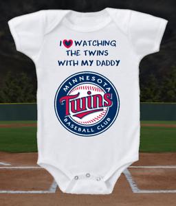 Minnesota Twins Onesie Bodysuit Shirt Love Watching With Daddy