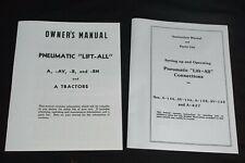 Pneumatic Lift All Ih Farmall A B Av Exhaust Lift Owners Parts Manual Set