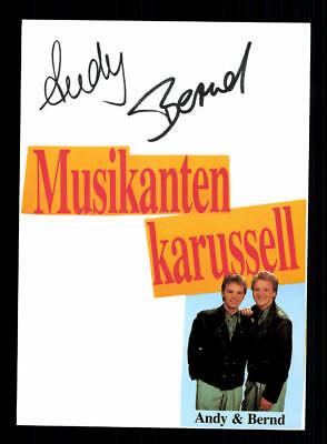 Andy Und Bernd Original Signiert # Bc 115191 Hitze Und Durst Lindern. Sammeln & Seltenes Original, Nicht Zertifiziert