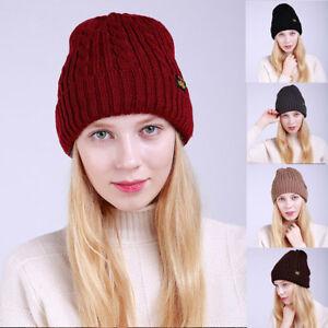 f15691e05f7 Fashion Women Winter Wool Knit Ski Beanie Skull Hat Warm Baggy Weave ...