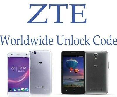 Unlock code ZTE Blade D6 Lite L LTE Blade Glux Blade GPRO Blade L110 Blade L111