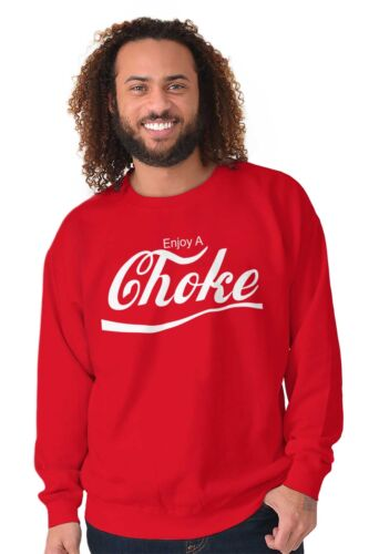 Enjoy Choke MMA Jiu Jutsu Martial Arts Gym Mens Crewneck Pullover Sweat Shirt