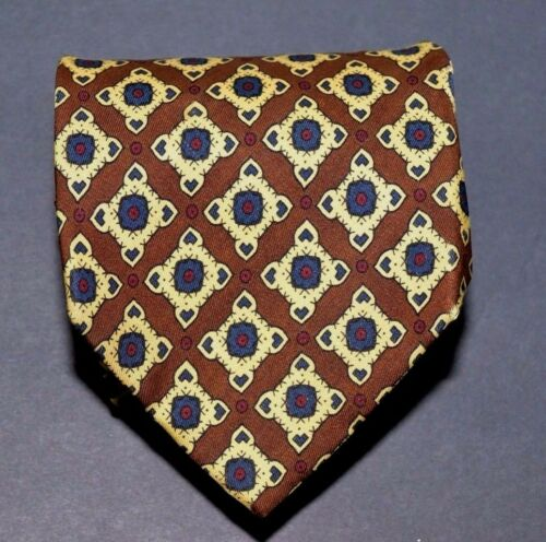 Handmade Coach  Necktie of Imported Silk Brownish