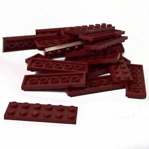 LEGO New Lot of 6 Dark Red 2x2 Plate Pieces