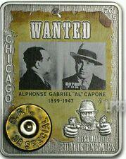 Al CAPONE 1 Oz Silver Coin,Embed 38 Special American Eagle Round.