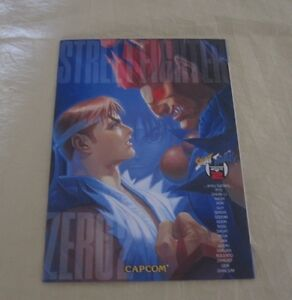Glorious Capcom Street Fighter Zero 2 Copybook Arcade Gaming Collectibles