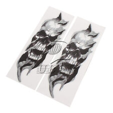 2x FORK SKULL Decals for Harley all models Sportster Softail Dyna Touring Fatboy
