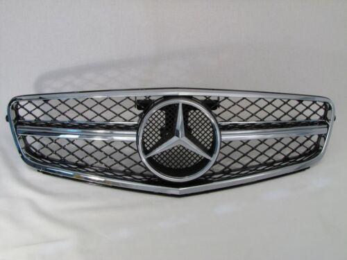 Griglia Radiatore IN Nero Cromo per Mercedes Benz W204 Classe C Dal 03//2007