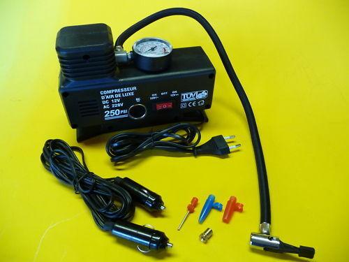 KOMPRESSOR Elektrische Luftpumpe Ballpumpe  geht mit12 Volt oder 230 Volt  90-80