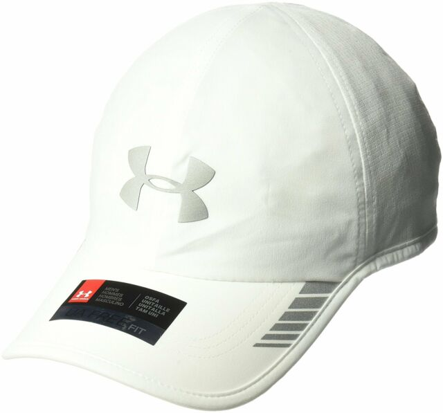 finest selection 602c3 19df0 Under Armour Men s Launch ArmourVent Cap White 100 silver One Size ...