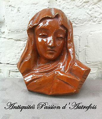 Methodisch B20151279 - Vierge En Plâtre à Suspendre Au Mur - Très Bon état
