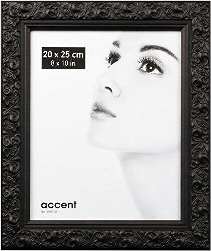 Nielsen Arabesque Bilderrahmen Format 20x25 cm schwarz Holz Portrait Fotorahmen