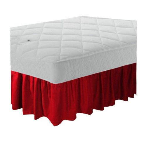 Poly Cotton Frilled Platform Base Valance Sheet All Colours /& Sizes Available