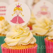 Princess Cupcake Toppers - Princess Cake Toppers - 4cm x 24 Wafer