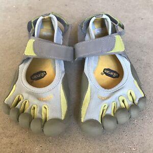 Vibram-Womens-Five-Fingers-Sprint-W37-Barefoot-Minimal-Running-Shoes-Gray-Green