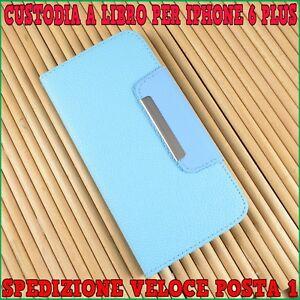 Custodia-flip-cover-libro-portafoglio-in-ecopelle-per-Apple-Iphone-6-6S-PLUS