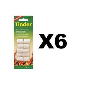 Coghlan-039-s-Tinder-Waterproof-Emergency-Fire-Starters-Kit-Camping-6-Pack-of-10