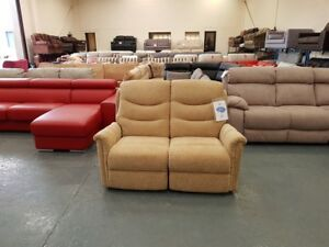 Ex-display-La-z-boy-Boston-fabric-2-seater-manual-recliner-sofa