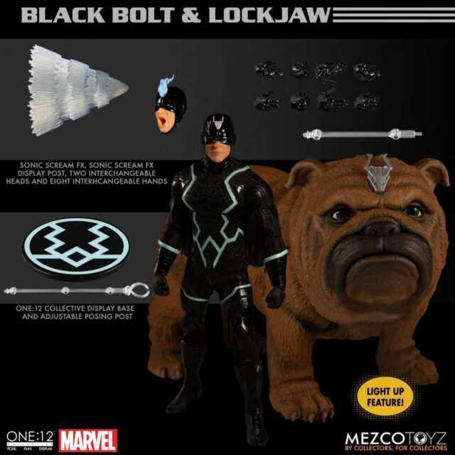 MEZCO MARVEL INHUMANS BLACK BOLT & LOCKJAW ACTION FIGURE
