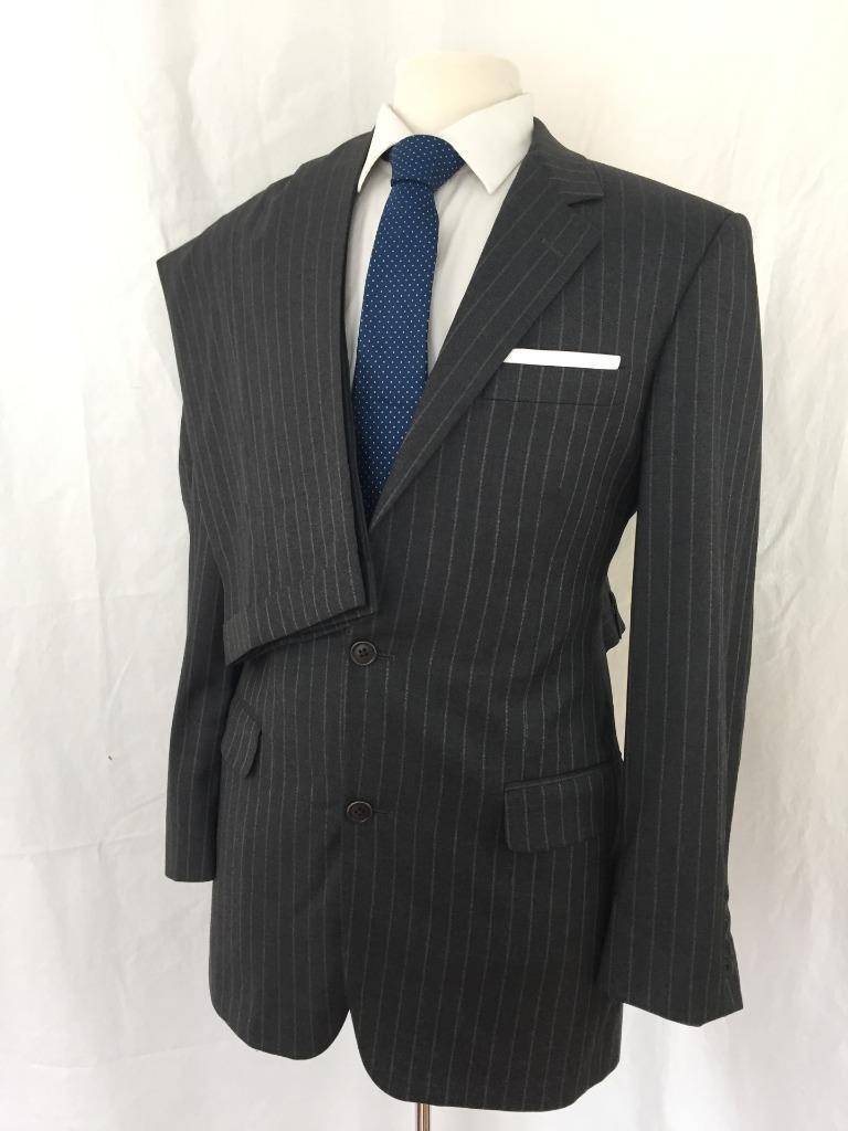Vtg BROOKS BROTHERS Loro Piana 2Pc Suit 40L 34x32