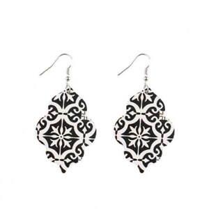 Baroque-Vintage-Drop-Earrings-Gold-Filigree-Flower-Print-Women-Boutique-Jewelry
