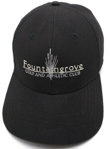 d149a235e9e Image is loading FOUNTAINGROVE-GOLF-AND-ATHLETIC-CLUB-black-adjustable-cap-