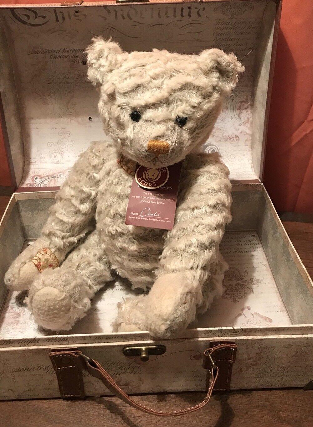 Charlie Bears Limited Edition Waldo Tag & Borsa spedisci in tutto il mondo