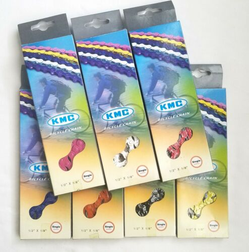 """New KMC Z410 1//2/"""" x 1//8/"""" 112 links Chain Colors"""
