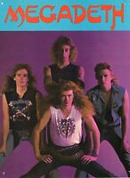 MEGADETH VINTAGE 8x10 GROUP PHOTO FROM MAGAZINE        RARE       DAVE MUSTAINE