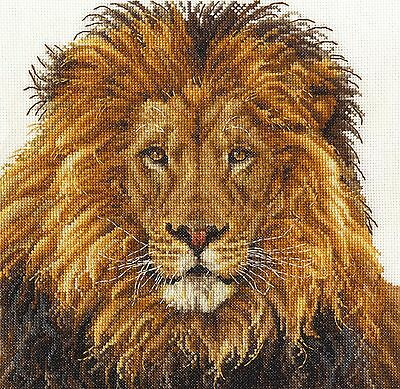 "DMC Counted Cross Stitch  Kit ""Lion's Pride"""