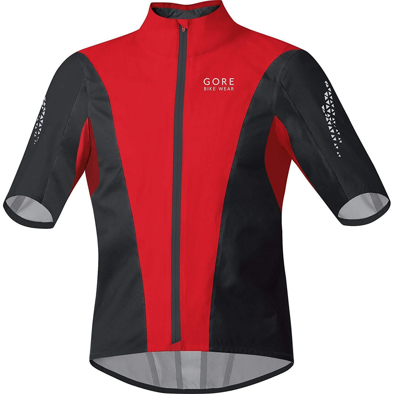 Gore Bike Wear Para Hombre Chaqueta corta de ciclismo Xenon GT AS Negro Rojo Grande Gore-Tex
