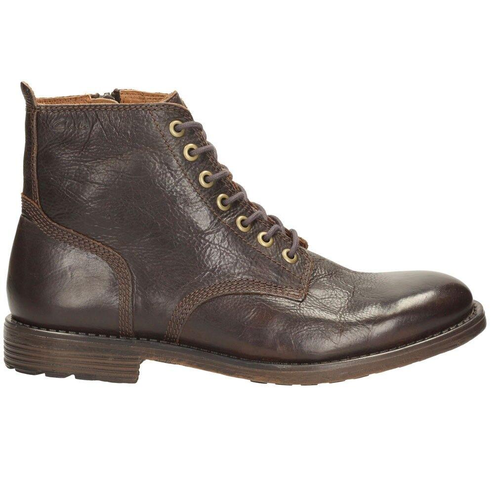 Clarks Mens  X Faulkner Rise  Walnut Lea Plus  UK 7,8,9,10,11,12  G