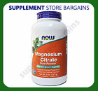 Now Foods Solutions Magnesium Citrate 100 Pure Powder Supplements 8oz 227g