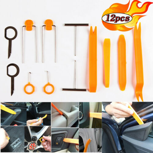 Car Panel Removal Open Pry Tools Kit Dash Door Radio Trim PDR Pump Wedge 12pcs