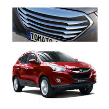 New Chrome Front Hood Radiator T Grill Tuning For Hyundai Tucson ix35 2011-2013