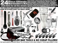 Bartender Gear: 24 Piece Bartender Kit
