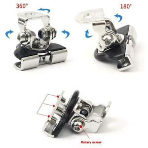 2Pcs-Stainless-Steel-Universal-Car-Hood-LED-Work-Light-Base-Mount-Bracket-Holder
