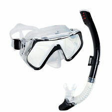 Adult Glass PVC Swimming Swim Diving Scuba Anti-Fog Goggles Mask & Snorkel #3