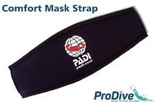 Comfort Padded Mask Strap Scuba Diving Free Dive Snorkel Slap Cover PADI Logo