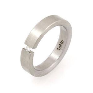 TeNo-YuNis-Ring-Gr-21-66-Spannring-Edelstahl-Diamant-0-04ct-Diamantring-schmal