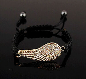 Exquisite-Crystal-Angel-Wing-Handmade-Adjustable-Gold-Bracelet-Fashion-Jewelry
