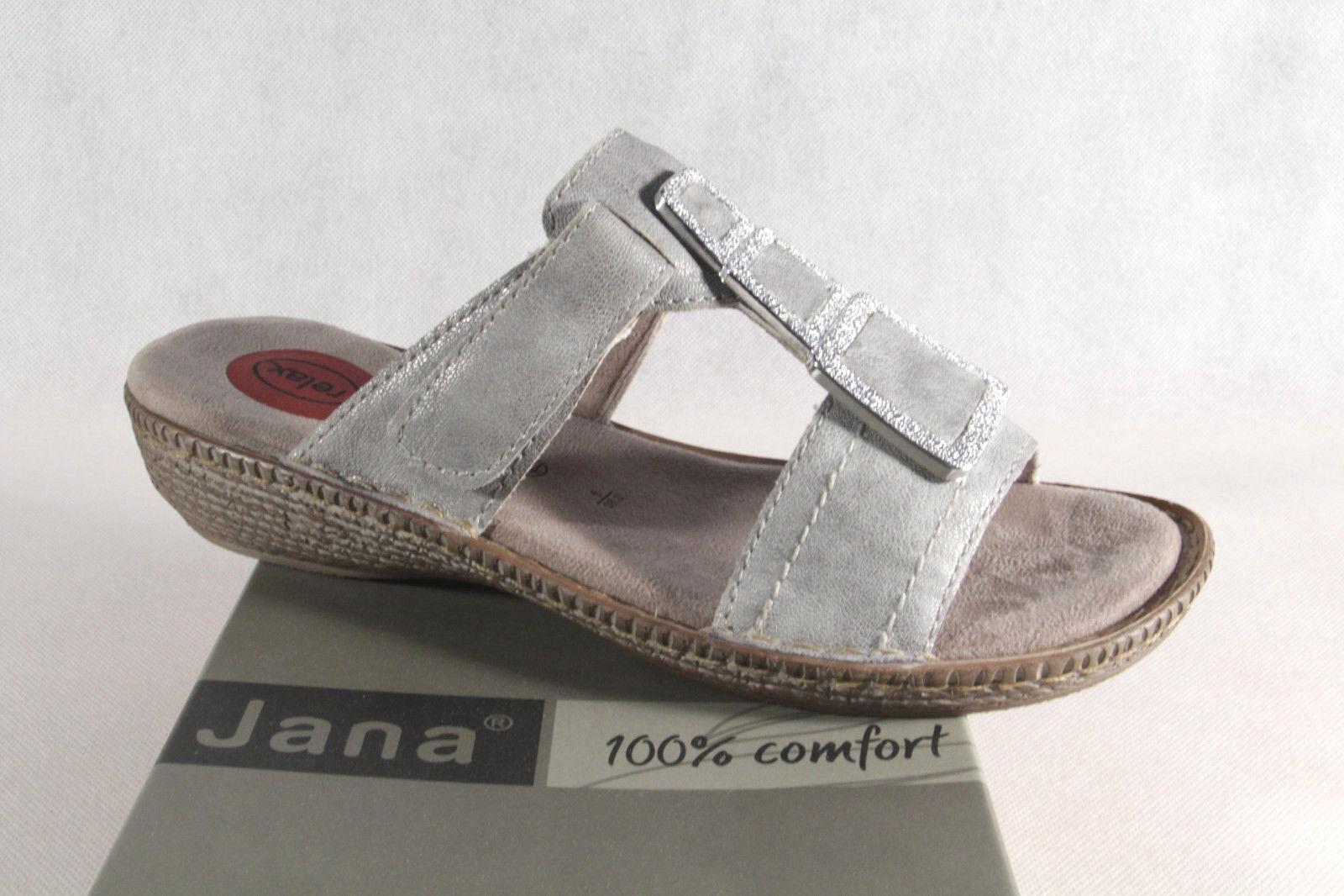 Jana donna ciabatte donna Jana sandali grigio argento NUOVO 7ff4b0