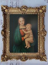 Gemälde Jesus Maria Ikonen Repro BAROCK Antik look 56x46 cm Religiöse Bilder 39