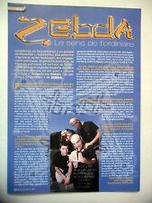 COUPURE DE PRESSE-CLIPPING : ZEBDA  10/2002 Hakim,Utopie d'occase